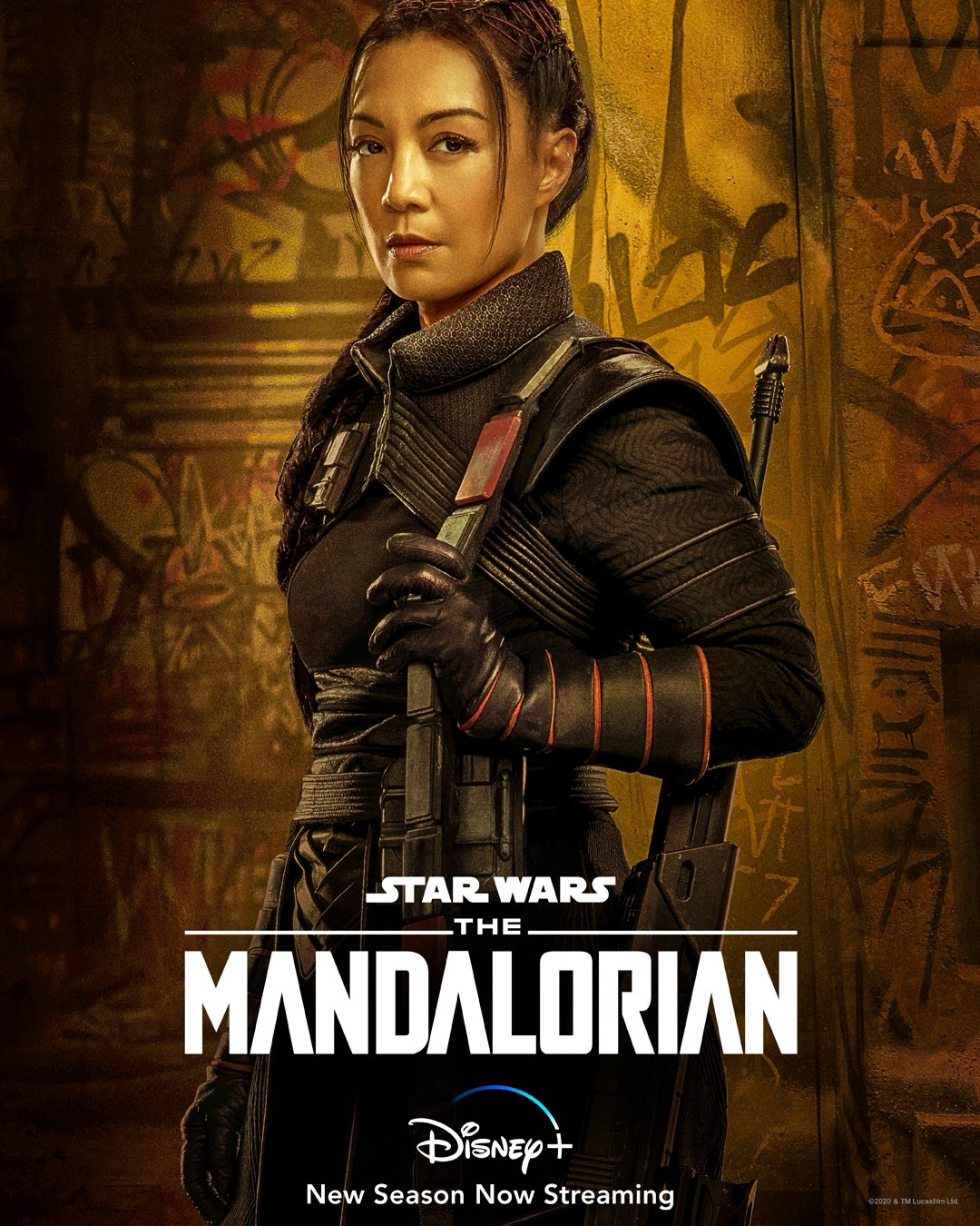 Ming-Na Wen als Fennec Shand in Star Wars - The Mandalorian - Poster